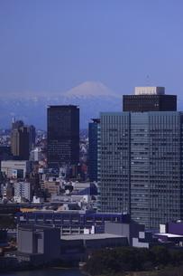勝どき付近より富士山を望むの写真素材 [FYI03871081]