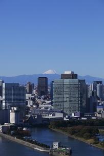 勝どき付近より富士山を望むの写真素材 [FYI03871082]