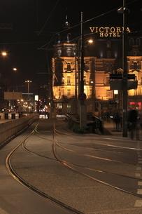 夜のアムステルダムの写真素材 [FYI03871286]