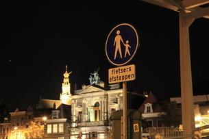 標識とハーレムの夜景の写真素材 [FYI03871313]