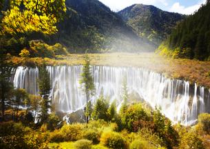 四川省 九寨溝 諾日朗瀑布の写真素材 [FYI03872031]