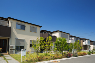 新興住宅街の写真素材 [FYI03876561]