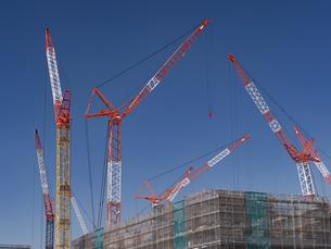 オリンピック選手村の建設が進む晴海埠頭の写真素材 [FYI03876703]