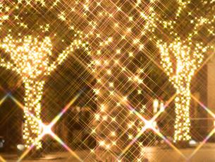 クリスマスイルミネーションの写真素材 [FYI03876764]