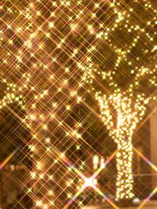 クリスマスイルミネーションの写真素材 [FYI03876770]