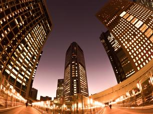 東京都 汐留の高層ビル街の写真素材 [FYI03876779]
