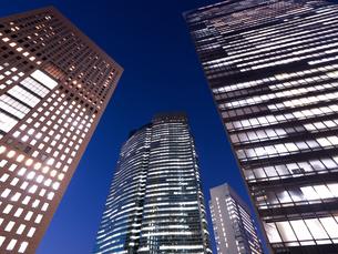 東京都 汐留の高層ビル街の写真素材 [FYI03876790]