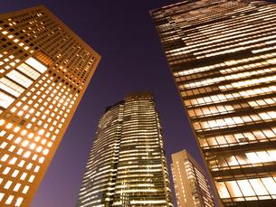 東京都 汐留の高層ビル街の写真素材 [FYI03876791]