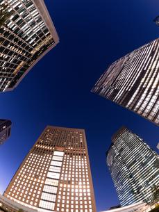 東京都 汐留の高層ビル街の写真素材 [FYI03876793]