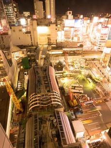 工事中の渋谷駅の写真素材 [FYI03876841]