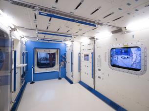 日本科学未来館 国際宇宙ステーションの模型の写真素材 [FYI03876849]