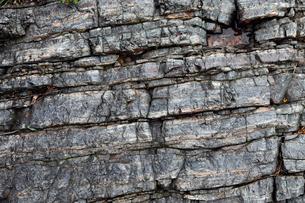 層状チャートの岩石露頭の写真素材 [FYI03876991]