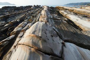 竜串海岸 地層の堆積構造の写真素材 [FYI03877089]