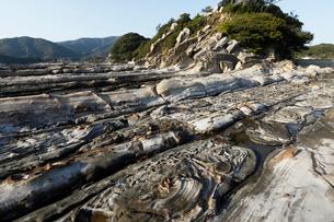 竜串海岸 地層の堆積構造の写真素材 [FYI03877107]