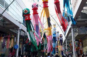 8月夏 仙台七夕まつり 東北三大夏祭りの写真素材 [FYI03877179]