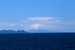 平成27年5月29日の口永良部島の大噴火の写真素材 [FYI03877237]