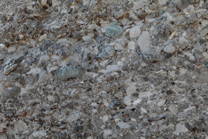 12月冬 礫岩の地質露頭 紀伊白浜の田辺層群の写真素材 [FYI03877245]
