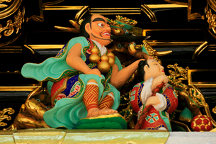 日光東照宮 陽明門の彫刻の写真素材 [FYI03877526]