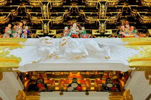 日光東照宮 陽明門の彫刻の写真素材 [FYI03877544]