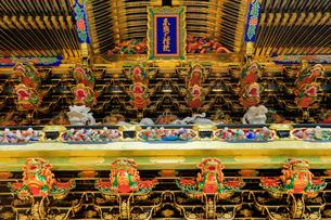 日光東照宮 陽明門の彫刻の写真素材 [FYI03877545]