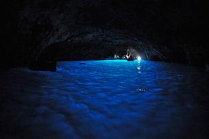 カプリ島の青の洞窟の写真素材 [FYI03877721]