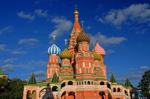 世界遺産モスクワの聖ワシリイ大聖堂の写真素材 [FYI03877767]