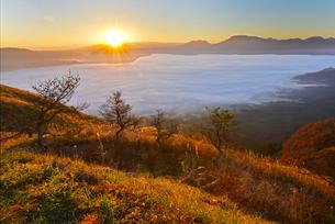 阿蘇山と雲海の写真素材 [FYI03877839]