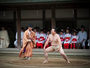 島祭 愛媛県大三島 一人角力の写真素材 [FYI03877960]