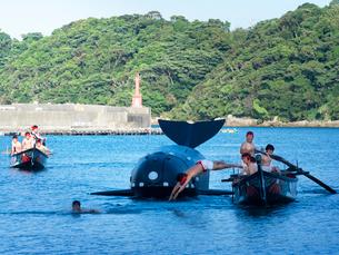 和歌山県 太地浦勇魚祭の写真素材 [FYI03878140]