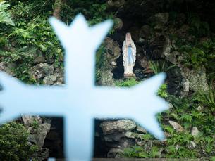 長崎県 五島列島 井持浦教会のルルドの写真素材 [FYI03878148]