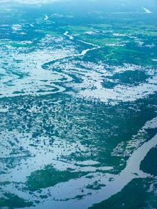 カンボジア シェムリアップ トンレサップ湖の写真素材 [FYI03878235]