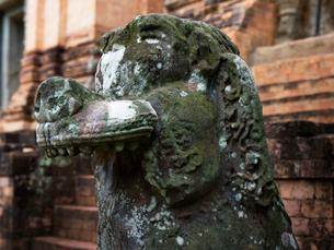 カンボジア シェムリアップ バンテアイ・クディ シンハ像の写真素材 [FYI03878236]