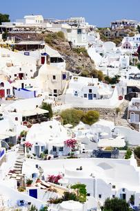 サントリーニ島イアの眺めの写真素材 [FYI03878529]
