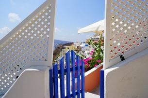 サントリーニ島の眺めの写真素材 [FYI03878542]