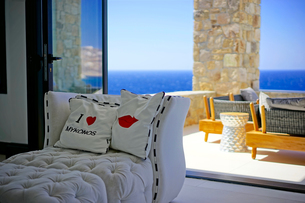 ミコノス島のホテルの写真素材 [FYI03878550]