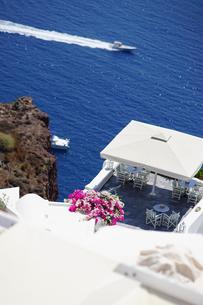 サントリーニ島の眺めの写真素材 [FYI03878565]