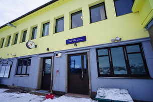 ノーランストーグ鉄道 ナルヴィク駅の写真素材 [FYI03878646]