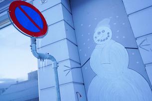 雪だるまの落書きの写真素材 [FYI03878753]