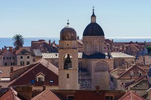 ドブロヴニク旧市街地の眺めの写真素材 [FYI03878814]