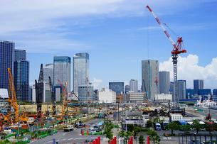 建設中のオリンピック選手村の写真素材 [FYI03878839]