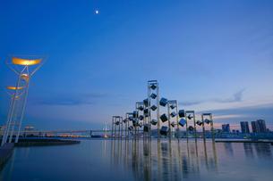 晴海埠頭の夜景の写真素材 [FYI03878864]
