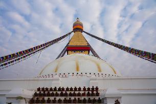ヒマラヤ ボダナート寺院の写真素材 [FYI03878885]
