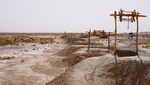 モロッコ 地下水路ハッタラーの写真素材 [FYI03879004]