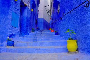 モロッコ シャウエンの街の写真素材 [FYI03879014]