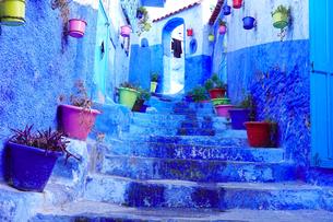モロッコ シャウエンの街の写真素材 [FYI03879032]
