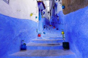 モロッコ シャウエンの街の写真素材 [FYI03879039]