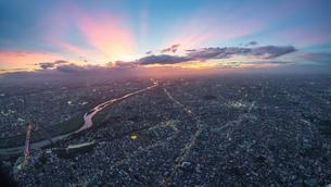 多摩川上空空撮の写真素材 [FYI03879100]