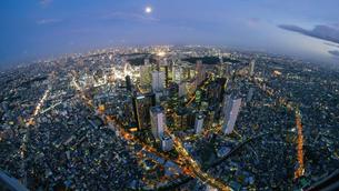 新宿空撮の写真素材 [FYI03879107]