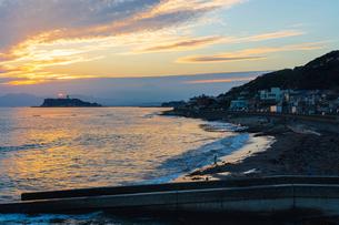 江ノ島夕景の写真素材 [FYI03879112]