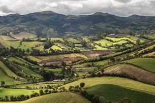 ペルー アンデスの牧歌的風景の写真素材 [FYI03879244]